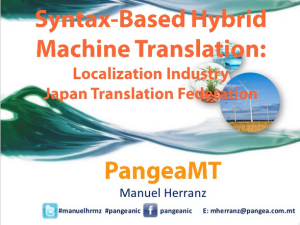 Pangeanic's Syntax-Based Hybrid Machine Translation