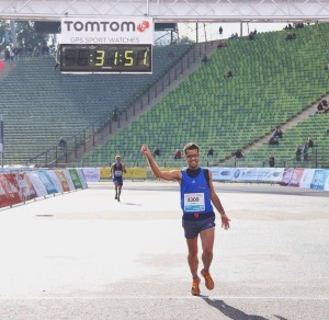Luis Escriche arrives third on the 10k trial - Munich 2016